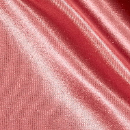 Shantung Sateen Coral Pink Fabric
