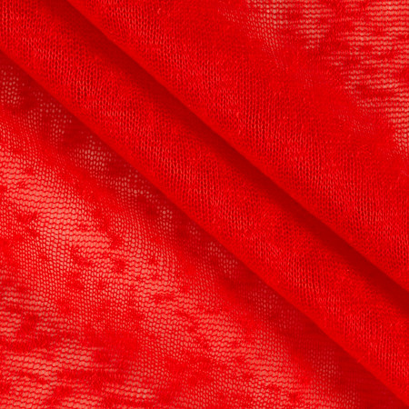 Sheer Slub Red Fabric By The Yard