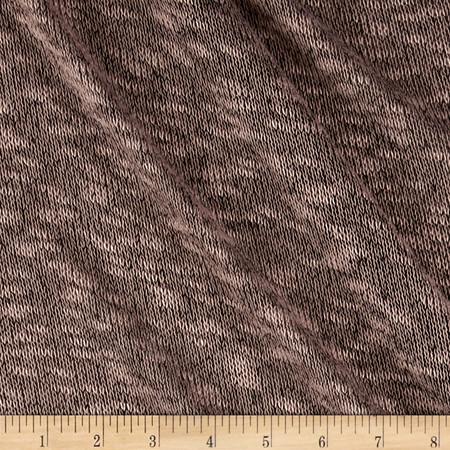 Sheer Sweater Knit Tan/Black Fabric