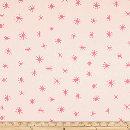 Shining Star Glitter Pink Fabric By The Yard