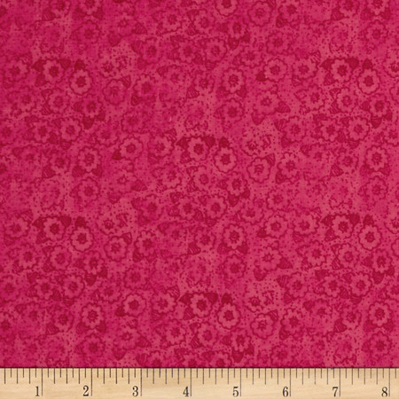 Small Tone on Tone Floral Pink Fabric By The Yard