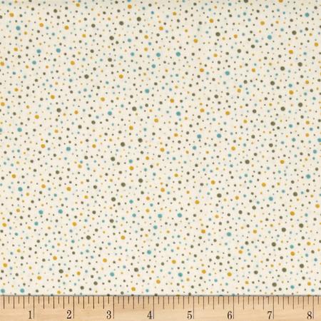 So Chic Dots Cream/Aqua Fabric