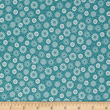So Chic Posey Toss Aqua Fabric