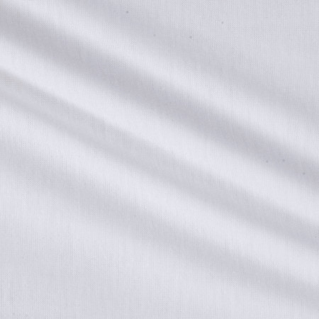 Soft Spun Poly Jersey Knit White PFP Fabric By The Yard