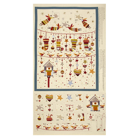 Sophie Advent Calender 24'' Panel Cream/Multi Fabric By The Yard