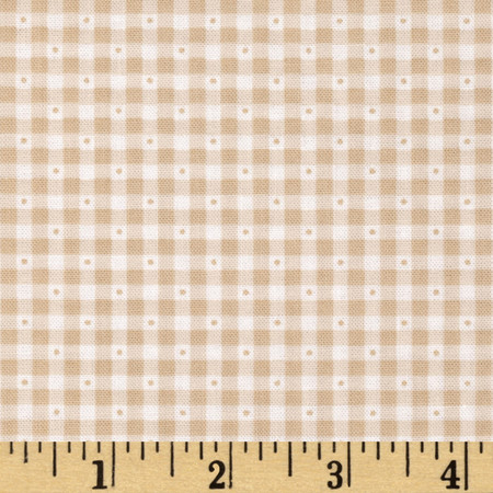 Sorbets Gingham Tan Fabric