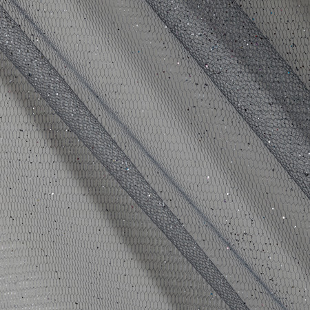 Sparkle Tulle Silver Fabric By The Yard