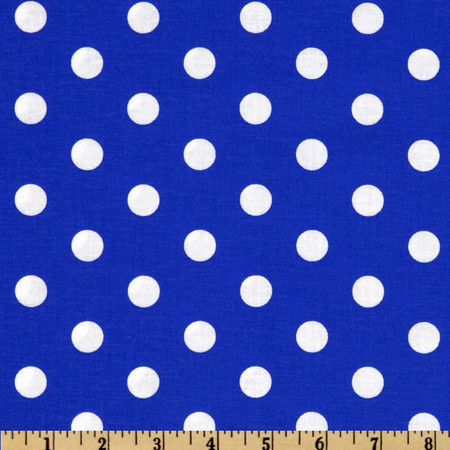 Spot On Polka Dots Royal Fabric By The Yard