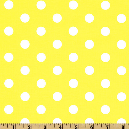 Spot On Polka Dots Yellow Fabric By The Yard