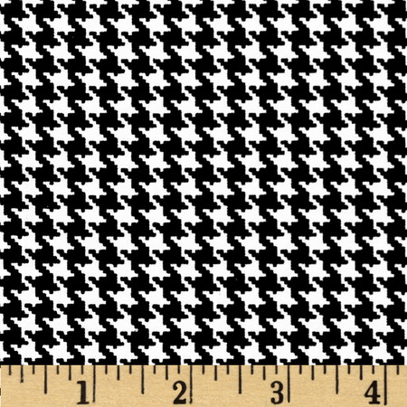 Spotlight Houndstooth Black/White Fabric