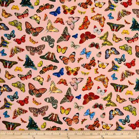 Spring in Paris Butterfly Pink Fabric