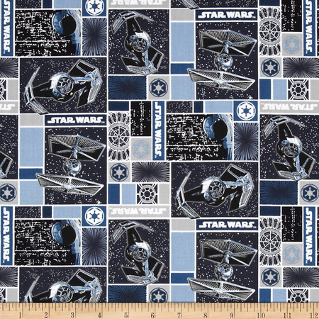 Star Wars Imperial Ships Fabric