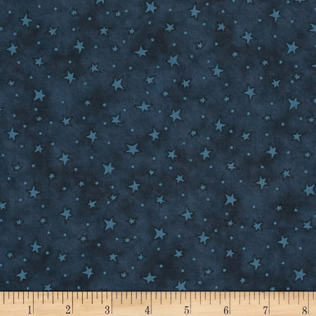 Starry Basic Indigo Fabric By The Yard