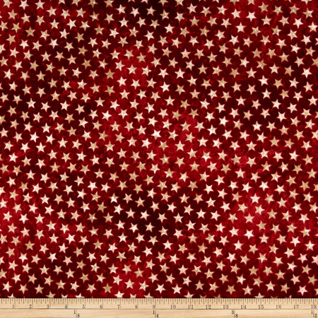 Stars & Stripes Flannel Stars Red Fabric By The Yard