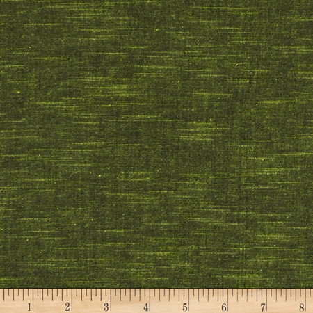 Stellar Textured Voile Dark Lemongrass Fabric