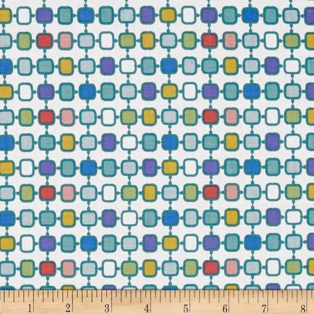 Stonewall Bloom Geometric White Fabric