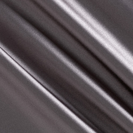 Stretch Charmeuse Satin Gray Fabric By The Yard