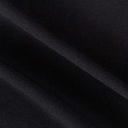 Stretch Crepe Dress Shirting Black Fabric By The Yard