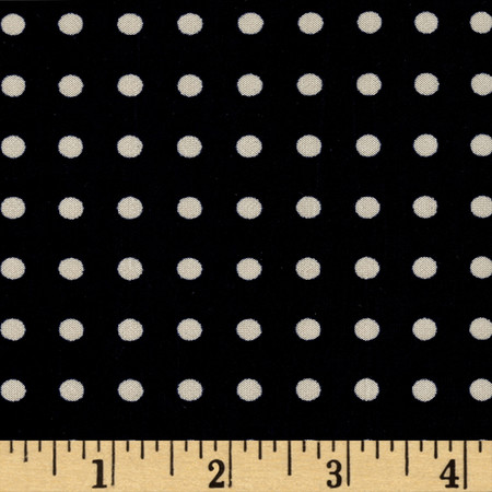Stretch ITY Jersey Knit Micro Dot Navy and Taupe Fabric By The Yard