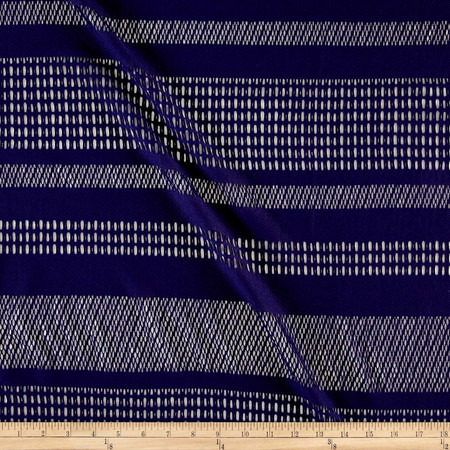 Stretch Mesh Lace Stripe Eggplant Fabric By The Yard