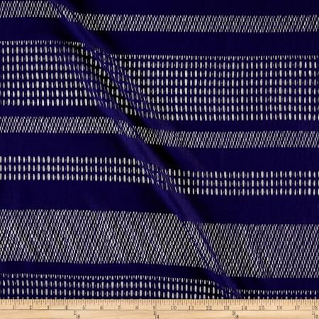 Stretch Mesh Lace Stripe Eggplant Fabric By The Yard