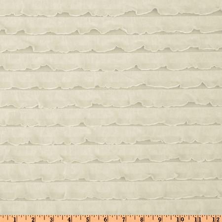 Stretch Ruffle Knit Ivory Fabric