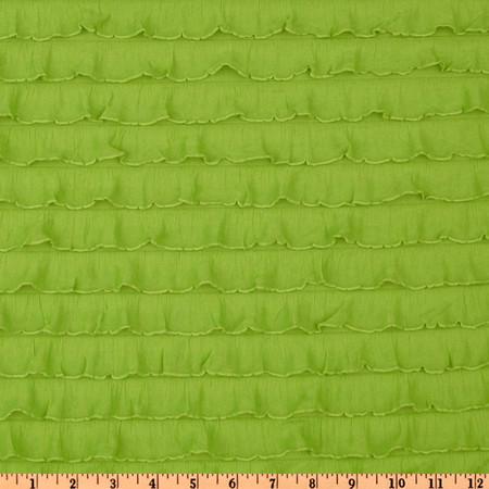 Stretch Ruffle Knit Lime Fabric