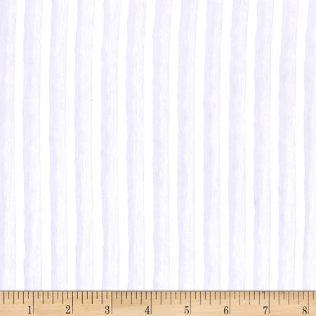 Stripe Ruffle Knit White Fabric By The Yard