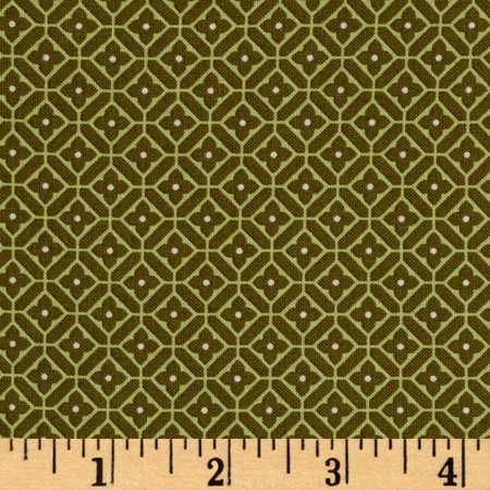Subtle Sunset Quartette Grassy Green Fabric By The Yard