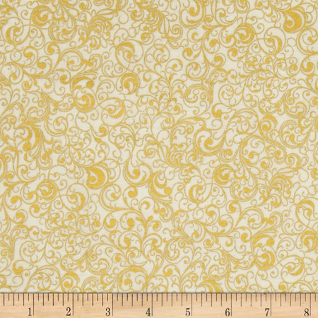 Suite Christmas Metallic Waltz Sugar Fabric By The Yard
