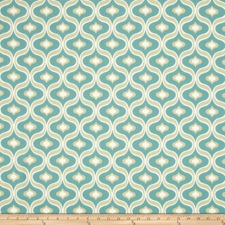 Swavelle/Mill Creek Beebe Aqua/Tan Fabric