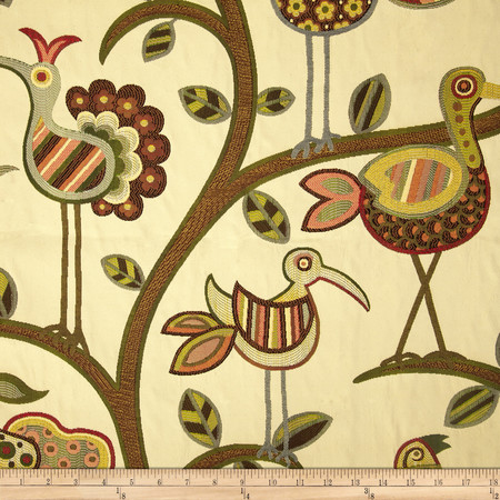 Swavelle/Mill Creek Crazy Ol' Bird Autumn Fabric