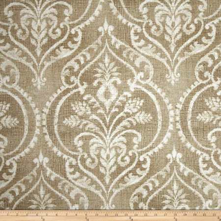 Swavelle/Mill Creek Dalusio Damask Sand Fabric By The Yard