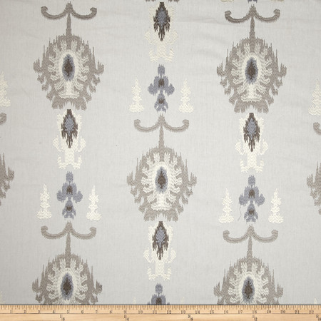 Swavelle/Mill Creek Embroidered Statice Ikat Cloud Fabric