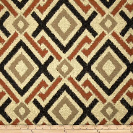 Swavelle/Mill Creek Honshu Diamonds Chenille Jacquard Ebony Fabric