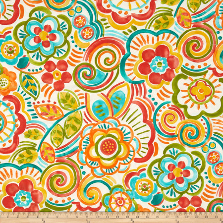 Swavelle/Mill Creek Indoor/Outdoor Bronwood Carnival Fabric By The Yard