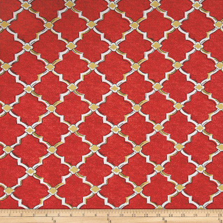 Swavelle/Mill Creek Indoor/Outdoor Eaton Screen Red Berry Fabric By The Yard