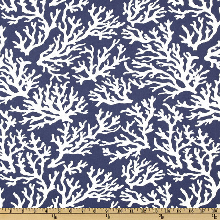 Swavelle/Mill Creek Indoor/Outdoor Faylinn Atlantic Fabric By The Yard