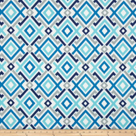 Swavelle/Mill Creek Indoor/Outdoor Gareth Aquatic Fabric By The Yard