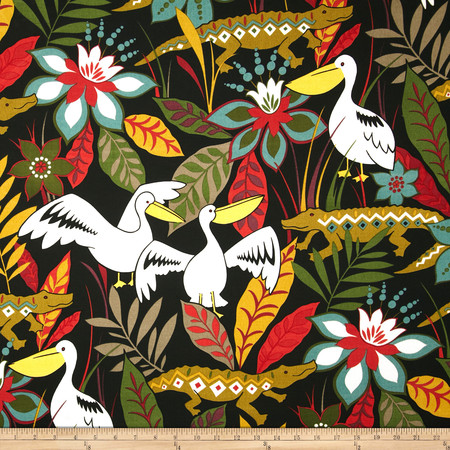 Swavelle/Mill Creek Indoor/Outdoor Glade Runner Black Spice Fabric By The Yard