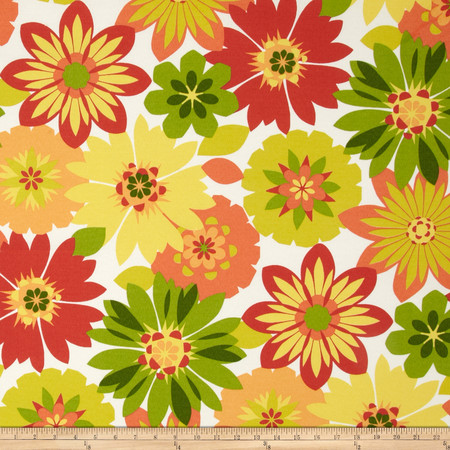 Swavelle/Mill Creek Indoor/Outdoor Orlato Citrus Fabric By The Yard