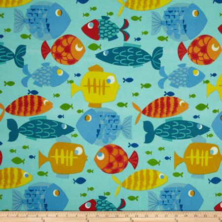 Swavelle/Mill Creek Indoor/Outdoor Small Fry Pacific Fabric By The Yard