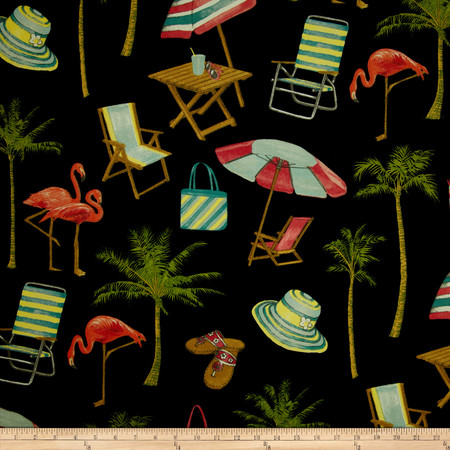 Swavelle/Mill Creek Indoor/Outdoor Sunny Isle Midnight Fabric By The Yard