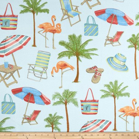 Swavelle/Mill Creek Indoor/Outdoor Sunny Isle Seabreeze Fabric By The Yard