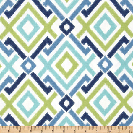 Swavelle/Mill Creek Jacq Diamonds Lagoon Fabric By The Yard