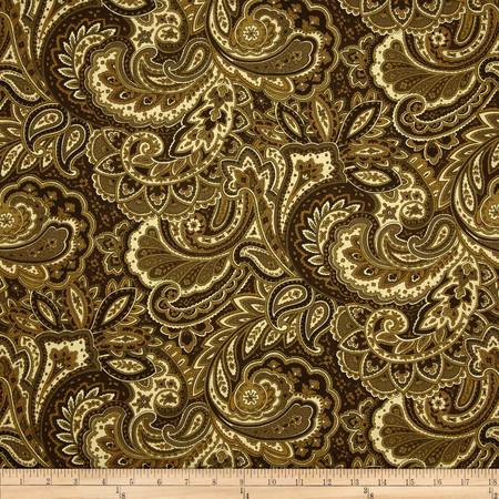 Swavelle/Mill Creek Morelia Paisley Buckwheat Fabric