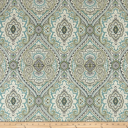 Swavelle/Mill Creek Purana Damask Breeze Fabric By The Yard