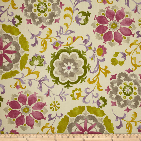 Swavelle/Mill Creek Renette Floral Lilac Fabric By The Yard