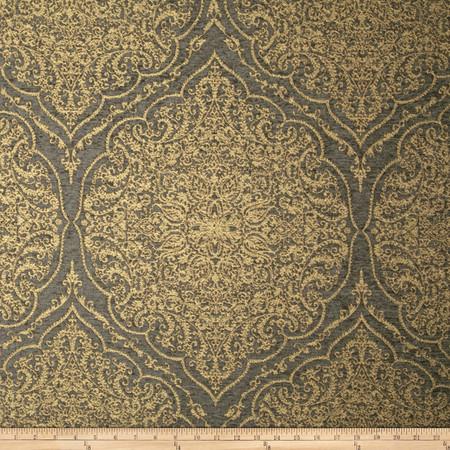 Swavelle/Mill Creek Sadira Medallion Chenille Jacquard Smoke Brown Fabric