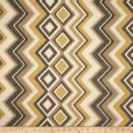 Swavelle/Mill Creek Stahl Jacquard Lemon Fabric By The Yard